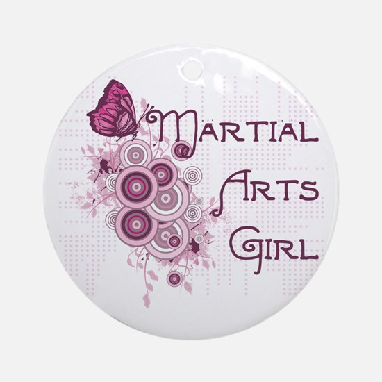 Martial Arts Girl Ornament (Round)