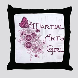 Martial Arts Girl Throw Pillow