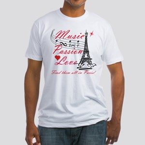 Paris-Music Fitted T-Shirt