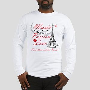 Paris-Music Long Sleeve T-Shirt