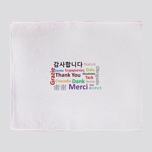 Languages of the world - thank you Throw Blanket