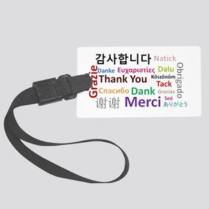 Languages of the world - thank y Large Luggage Tag