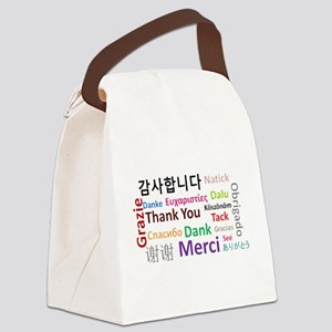 Languages of the world - thank yo Canvas Lunch Bag
