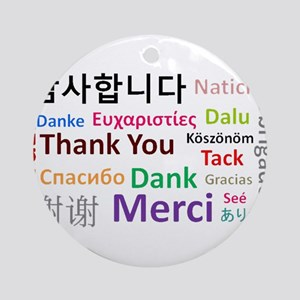 Languages of the world - thank you Round Ornament