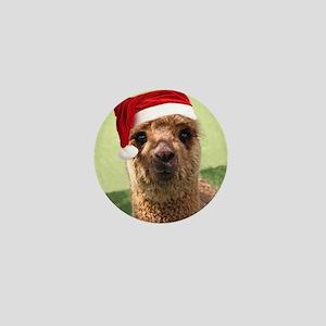 Alpaca Christmas Button Mini Button