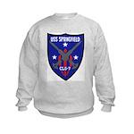 USS Springfield (CLG 7) Kids Sweatshirt