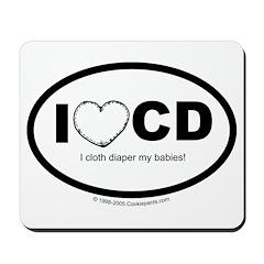 I love Cloth Diapering! Mousepad