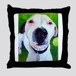 Jack Russell Nose Best Throw Pillow