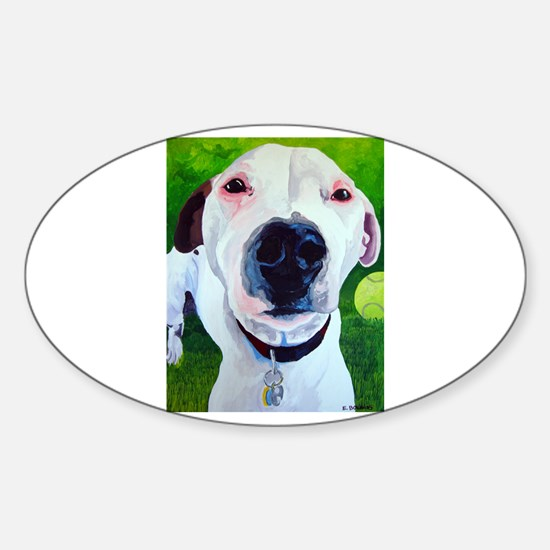 Jack Russell Nose Best Oval Decal
