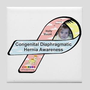 Holly Mount CDH Awareness Ribbon Tile Coaster