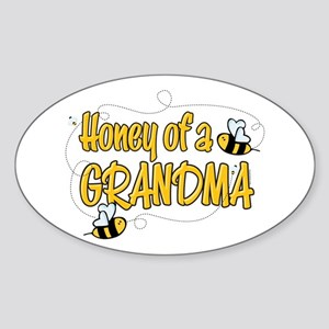 Honey of a Grandma Oval Sticker