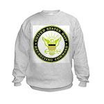 US Navy Recruiting Command Kids Sweatshirt