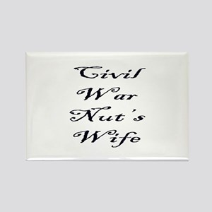 Civil War Nut's Wife Rectangle Magnet