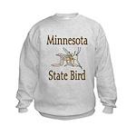 Minnesota State Bird Kids Sweatshirt
