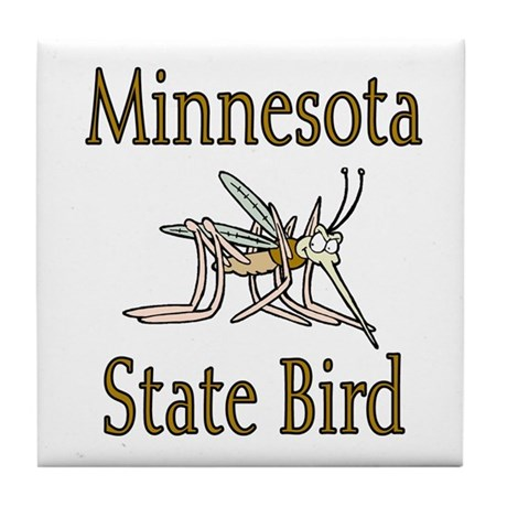Minnesota State Bird Tile Coaster
