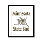 Minnesota State Bird Framed Panel Print