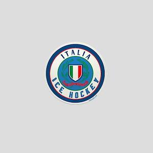 IT Italia Italy Ice Hockey Mini Button