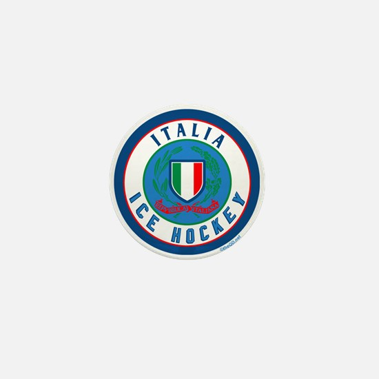 IT Italia Italy Ice Hockey Mini Button