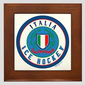 IT Italia Italy Ice Hockey Framed Tile