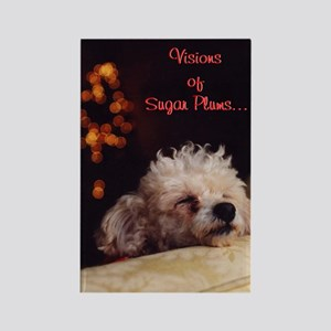 Visions Of Sugar Plums - Rectangle Magnet