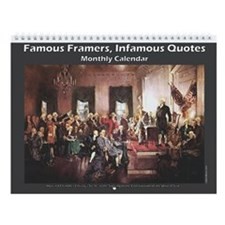 Famous Framers, Infamous Quotes Wall Calendar
