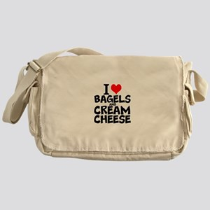 I Love Bagels and Cream Cheese Messenger Bag