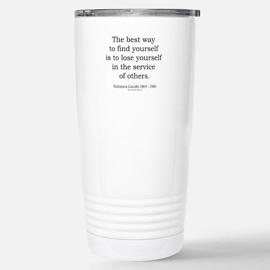 Mahatma Gandhi 24 Stainless Steel Travel Mug