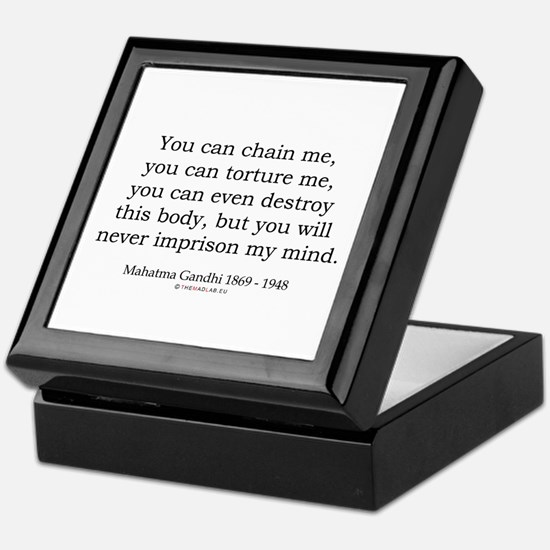 Mahatma Gandhi 31 Keepsake Box