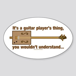 Cigar Box Guitar Oval Sticker