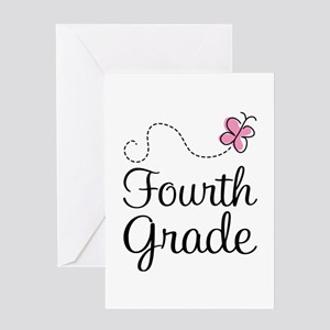 Butterfly Fourth Grade Greeting Card