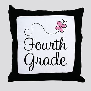 Butterfly Fourth Grade Throw Pillow