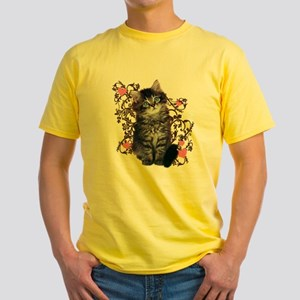 Cute Kitten Kitty Cat Lover Yellow T-Shirt