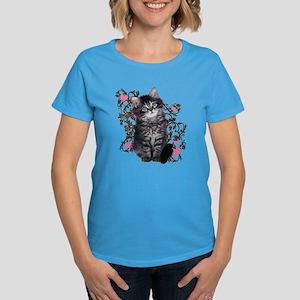 Cute Kitten Kitty Cat Lover Women's Dark T-Shirt