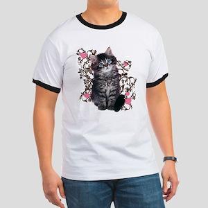 Cute Kitten Kitty Cat Lover Ringer T