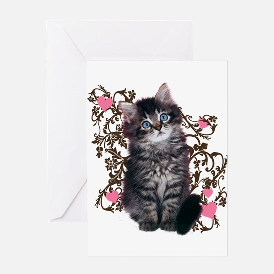 Cute Kitten Kitty Cat Lover Greeting Card