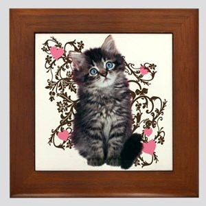 Cute Kitten Kitty Cat Lover Framed Tile