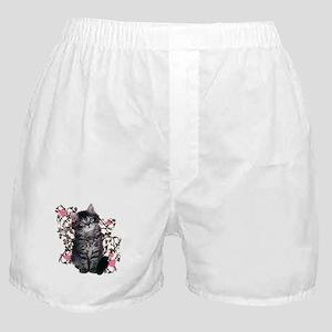 Cute Kitten Kitty Cat Lover Boxer Shorts