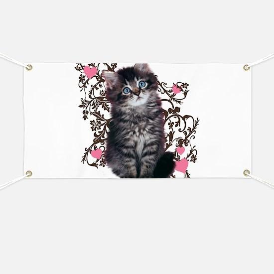 Cute Kitten Kitty Cat Lover Banner