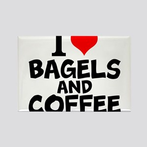 I Love Bagels And Coffee Magnets