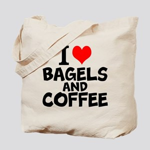 I Love Bagels And Coffee Tote Bag