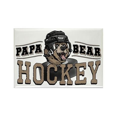 Papa Bear Hockey 2 Rectangle Magnet