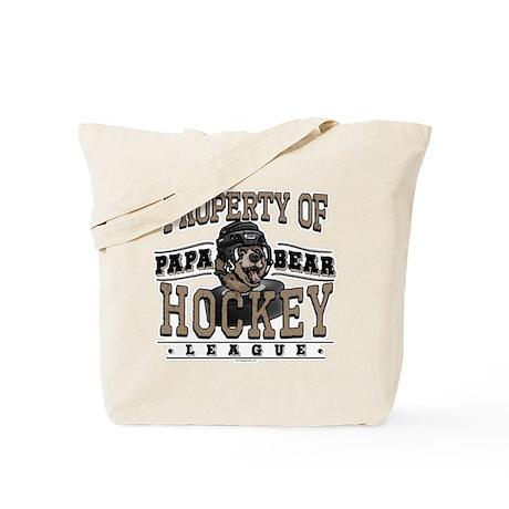 Papa Bear Hockey Tote Bag