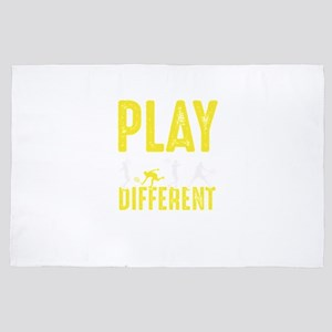 Play Different Tennis Gameplay Ball Pl 4' x 6' Rug