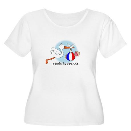 Stork Baby France Women's Plus Size Scoop Neck T-S