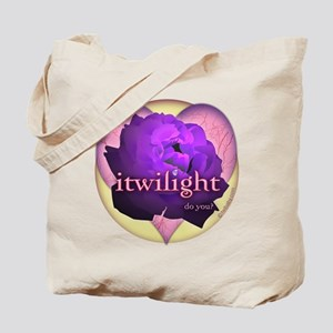 itwilight Do You? Purple Rose of Love Tote Bag