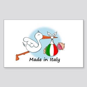 Stork Baby Italy Rectangle Sticker