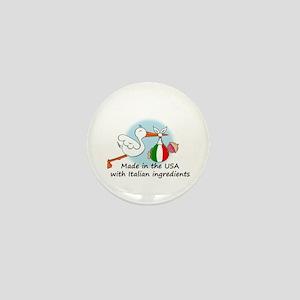 Stork Baby Italy USA Mini Button