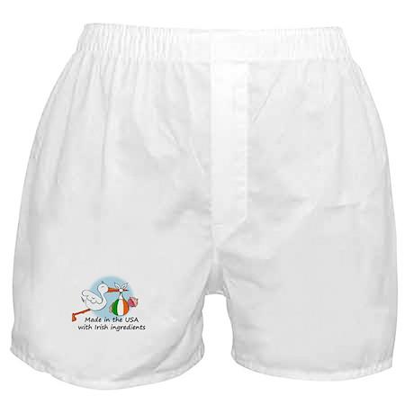 Stork Baby Ireland USA Boxer Shorts