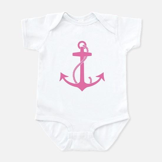 Pink Anchor Infant Bodysuit
