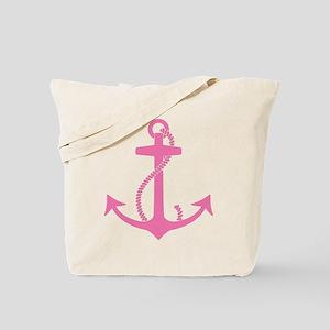 Pink Anchor Tote Bag
